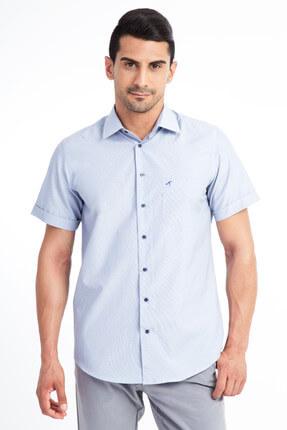 Kiğılı Kısa Kol Regular Fit Çizgili Gömlek 0