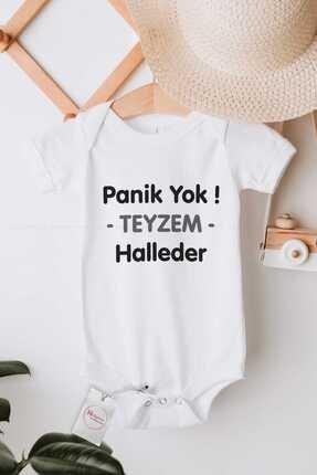 Hediyenza Panik Yok Teyzem Halleder Baskılı Bebek Body Zıbın 0