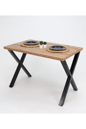 Mars Mobilya Woody Metal Ayaklı Çam Mutfak Masası 0