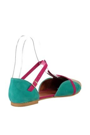 Fox Shoes Ten Fuşya Yeşil Kadın Ayakkabı B726881802 2