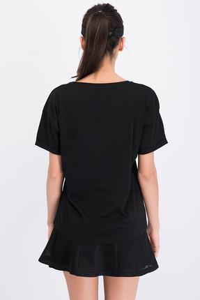 New Balance Kadın T-shirt - V-WTT807-BK 3