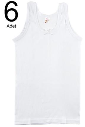 Namaldı Kız Çocuk Beyaz 6'lı Paket  Ribana Atlet ELF568N414CCM6 1