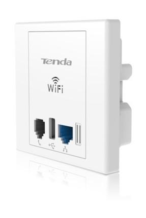 tenda W312A Priz Tipi 1Port WiFi-N 300Mbps POE AP 0