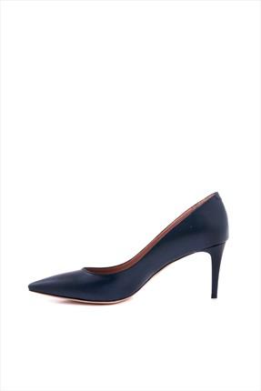 Kemal Tanca Kadın Lacivert Hakiki Deri Topuklu Ayakkabı 152TCK557 21694 1
