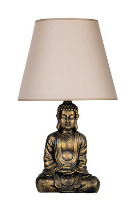 Modern Dizayn Buda Abajur Gold-Bej qdecabjbuda013