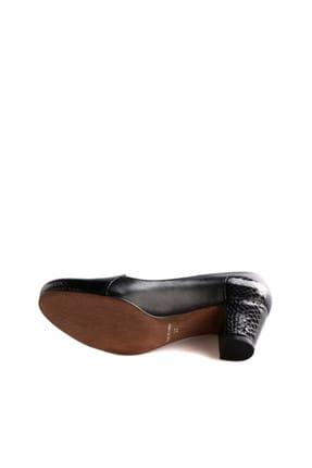 Dgn Siyah Rugan Siyah Kadın Klasik Topuklu Ayakkabı 258-148 3