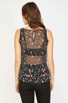 Koton Kadın Siyah Bluz 8YAK33553EW 3