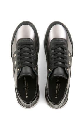 Tommy Hilfiger Kadın Siyah Sneaker FW0FW03688 4