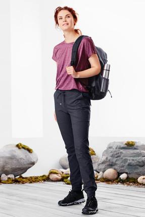 Tchibo Gri Kırçıllı Mavi Dryactive Plus Fonksiyonel Trekking Pantolonu 89118 0