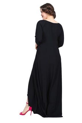 Angelino Kadın Siyah Genç Abiye Elbise KL56 2