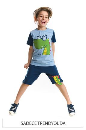 Picture of Mavi Erkek Çocuk Hey Adamım Şort Takım CFF-18Y2-027