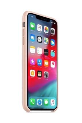 Telefon Aksesuarları iPhone XS Max Silikon Kılıf Kum Pembe 2