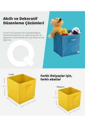 Rani Mobilya Q1 Medium Çok Amaçlı Dolap İçi Düzenleyici Kutu Dekoratif Saklama Kutusu Organizer Açık Mavi 4