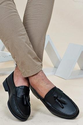 Ayakkabı Bahçesi Erkek Siyah  Corcik Model  Cilt  Klasik Ayakkabı 2