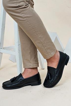 Ayakkabı Bahçesi Erkek Siyah  Corcik Model  Cilt  Klasik Ayakkabı 3