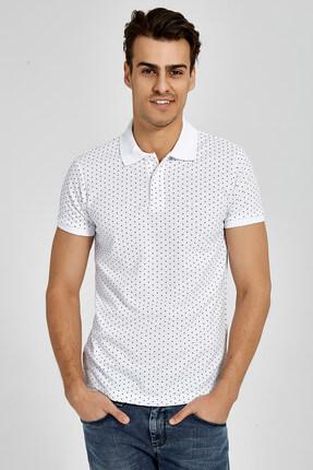 Ltb Erkek  Beyaz Polo Yaka T-Shirt 012188434161430000 0
