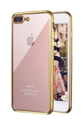 Microsonic Apple iPhone 8 Plus Kılıf Flexi Delux Gold 0