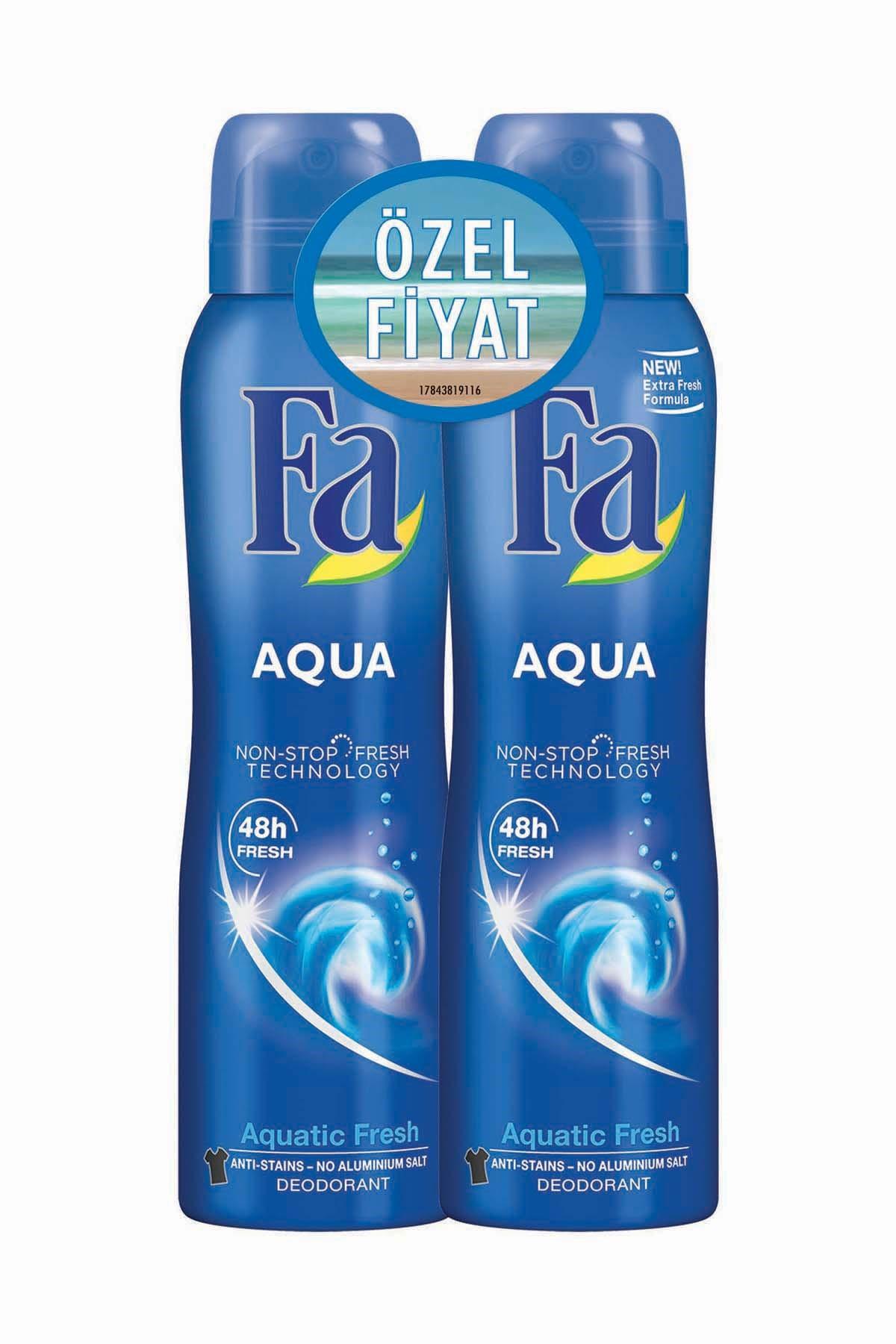 Deodorant Sprey 2'Li Aqua 150 ml + 150 ml 8690572783252