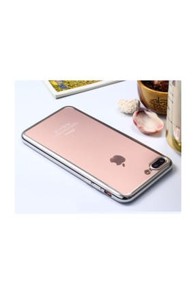 Microsonic Apple iPhone 8 Kılıf Flexi Delux Gümüş 1