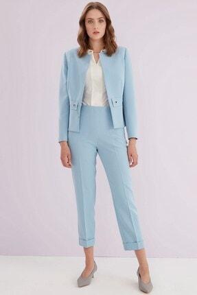 Journey Kadın Mavi Ön Pens Detaylı Pantolon 1