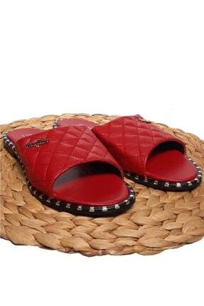 Moda Frato Kadın Kırmızı Terlik 3