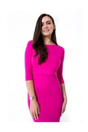 Accouchee Pembe Kolay Emzirme Özellikli Elbise 2