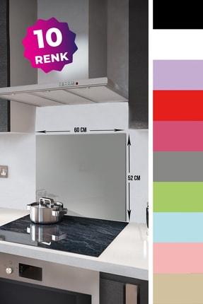 Decorita Düz Renk - Gri | Cam Ocak Arkası Koruyucu  |  52cm x 60cm 1
