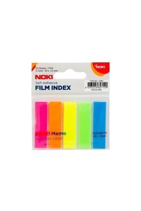 Noki Noki Memo Film Index 5 Renk 12x45mm 25 Yp. 12050 Yapışkan Notluk 0