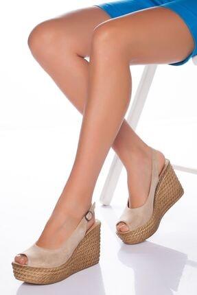 derithy Lewis Dolgu Topuklu Ayakkabı-ten Süet-lzt0535 0