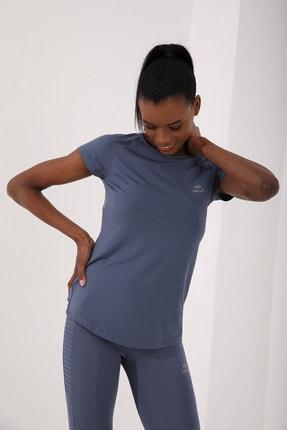 Tommy Life Petrol Kadın Sırt Pencereli Kısa Kol Standart Kalıp O Yaka T-shirt - 97101 4