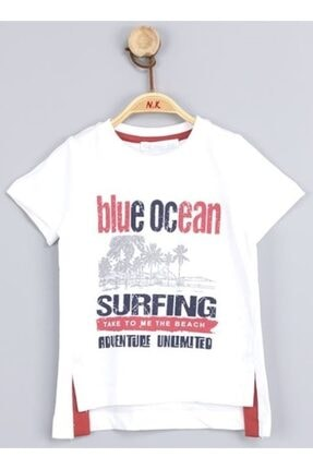 NK Erkek Çocuk Beyaz Blue Ocean Tshirt 0