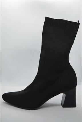 GARDA Kadın Siyah Topuklu Çorap Model Bilekte 1