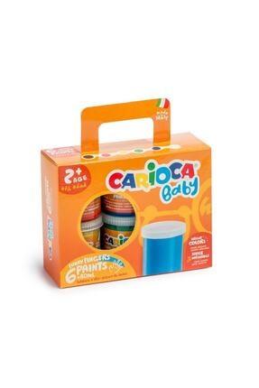 Carioca Baby Yıkanabilir Parmak Boyası - 6 Renk X 80 gr - Ko032 0