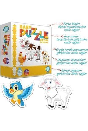 İstocToptan Circle Toys Baby Puzzle Çiftlik Hayvanları 2