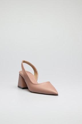 ALTINAYAK Kadın Yanı Kesik Arka Açık Sivri Kalıp Ayakkabı 2