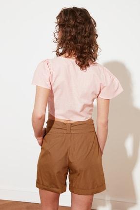 TRENDYOLMİLLA Somon Petite Düğmeli Bluz TWOSS21BZ1449 3