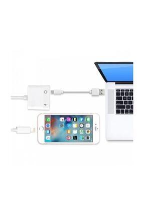 Ally Iphone 7,8 X ,10 Uyumlu Lightning , Kulaklık Ve Şarj Çevirici Dönüştürücü 4