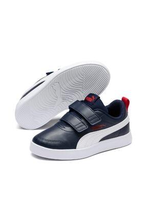 Puma COURTFLEX V2 V PS Lacivert Erkek Çocuk Sneaker Ayakkabı 101085088 1