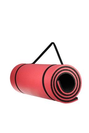 Walke 16 Mm Pilates Kamp Matı Kırmızı Siyah Taşıma Askılı 3