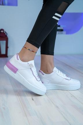 Bartrobel Kadın Beyaz Lila Sneaker Günlük Ayakkabı 2