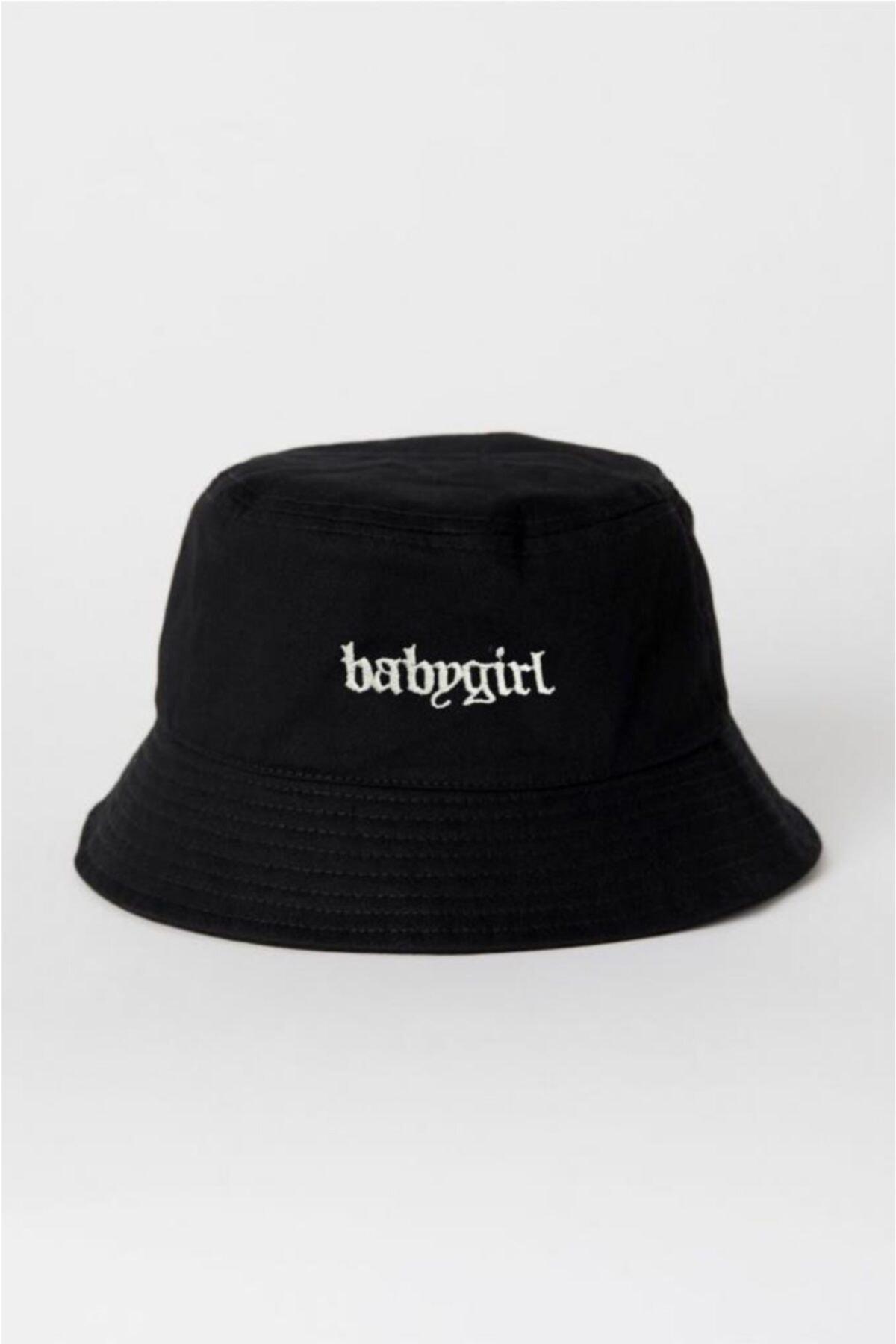 Siyah Babygirl Balıkçı Şapka Bucket Hat