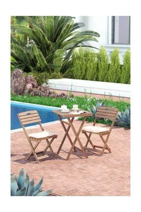 Meya Dekor Minder Hediyeli Balkon Bahçe Mutfak 3'lü Bistro Set Katlanır 2 Sandalye 1 Masa 0