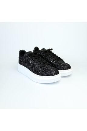 Eliza Siyah Simli Hakiki Deri Siyah Sneaker SYYHX0107012