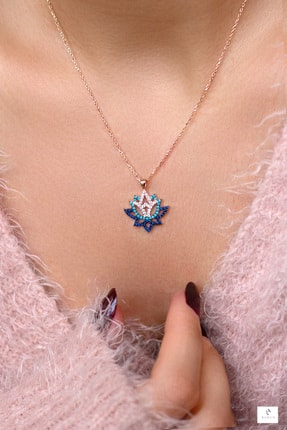 By Barun Silver Lotus Yaşam Çiçeği Gümüş Kolye 1