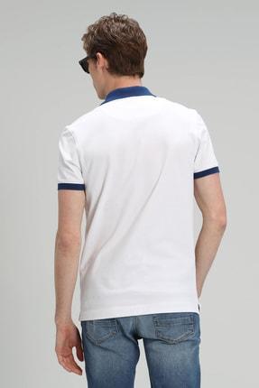 Lufian Palm Spor Polo T- Shirt Beyaz 4