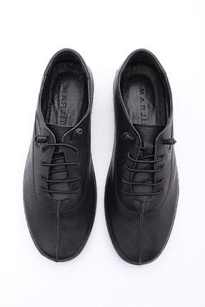 Marjin Kadın Siyah Hakiki Deri Günlük Comfort Ayakkabı Edor 1