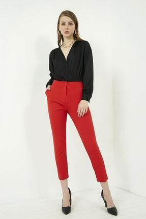 Vis a Vis Kadın Kırmızı Klasik Düz Pantolon 3
