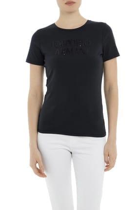 Emporio Armani Lacivert Kadın T-Shirt 3G2T86 2JQAZ 0920 0