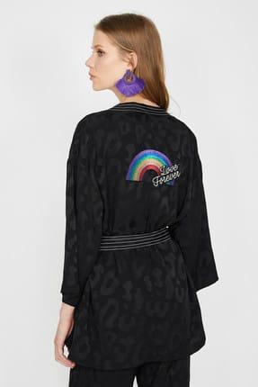 Koton Kadın Siyah Ceket 9YAK52061UW 4