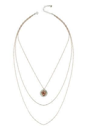Bendis Kadın Rose-Gümüş Katmer Apolet Kolye C559 1